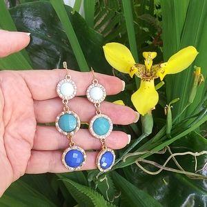 🎯 3/$20 New Blue Dangle Faucet Earrings